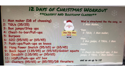 12 Days Of Christmas Crossfit Wod.12 Days Of Christmas Pally Crossfit Pally